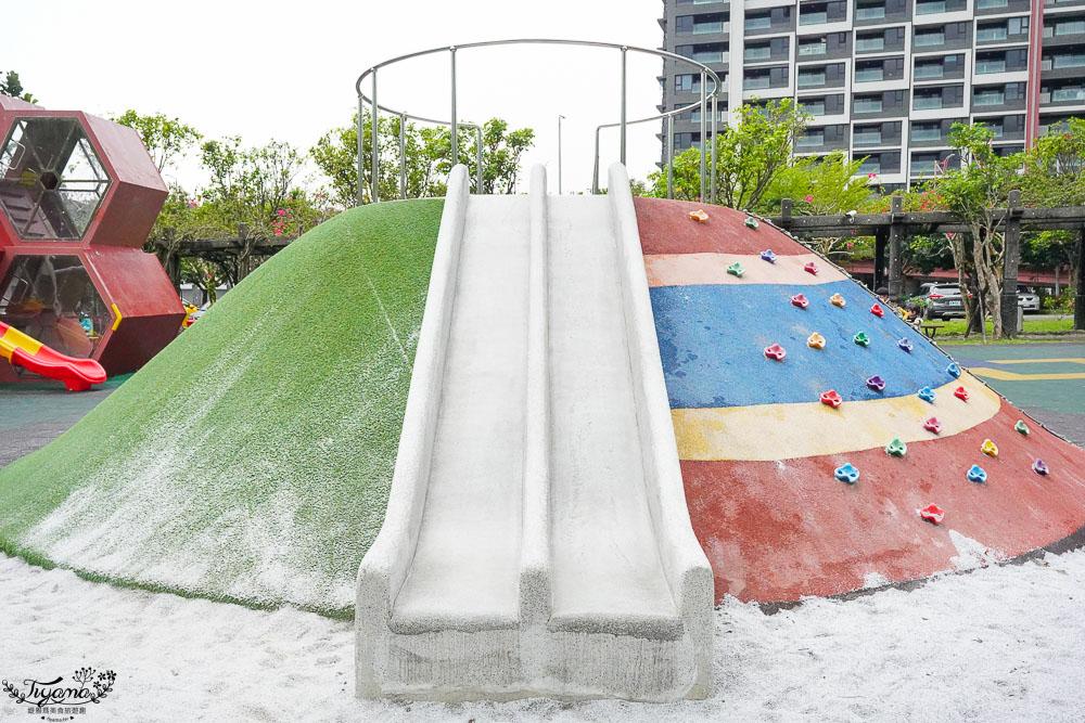 宜蘭親子景點,頭城運動公園:滑梯攀岩小山、拉繩協力軌道車、五角型疊疊滑梯,兒童放電免費景點 @緹雅瑪 美食旅遊趣