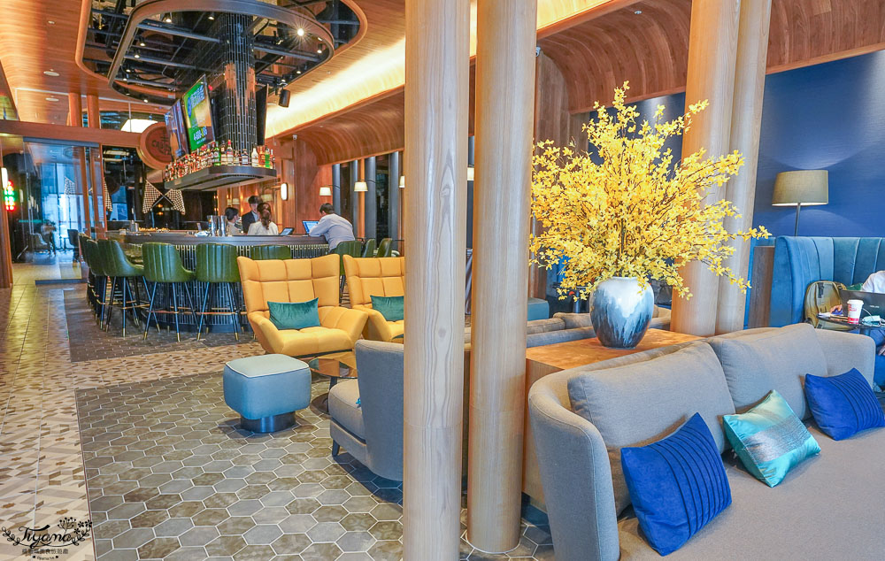 桃園新開幕飯店》COZZI Blu 和逸飯店桃園館,海洋元素客房,鄰近Xpark、outlet購物商城、新光影城 @緹雅瑪 美食旅遊趣