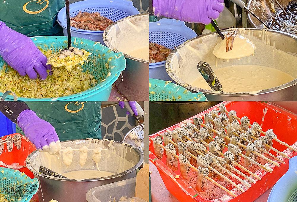 澎湖必吃銅板美食,回家炸粿:狗蝦雙拼炸粿、炸飛魚、顧眼小卷、海菜丸子、花枝丸 @緹雅瑪 美食旅遊趣