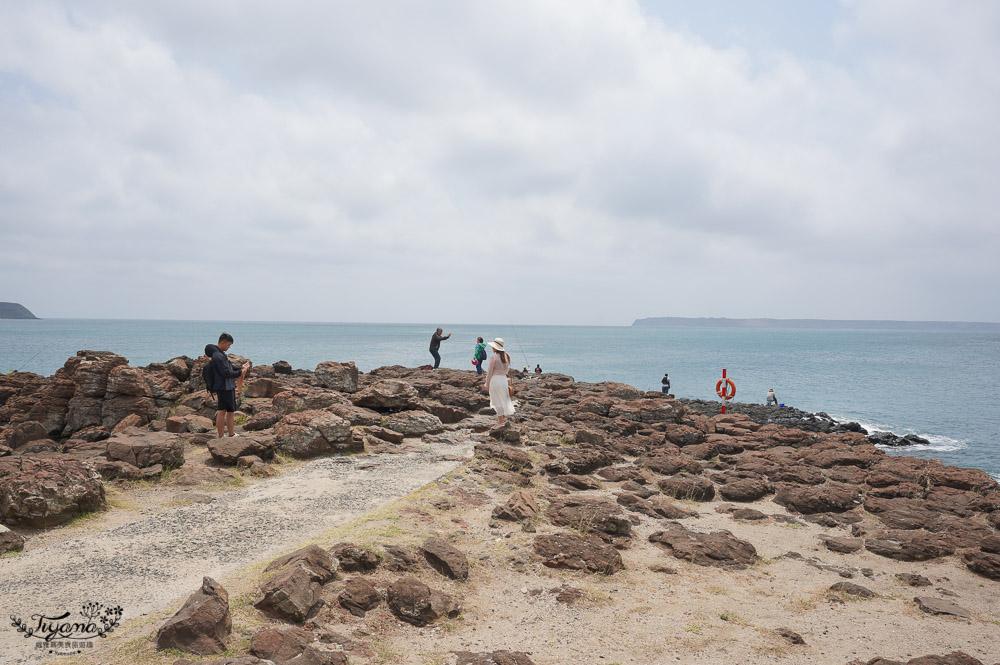 澎湖南環打卡景點「風櫃聽濤」,純白幽浮出沒!! @緹雅瑪 美食旅遊趣