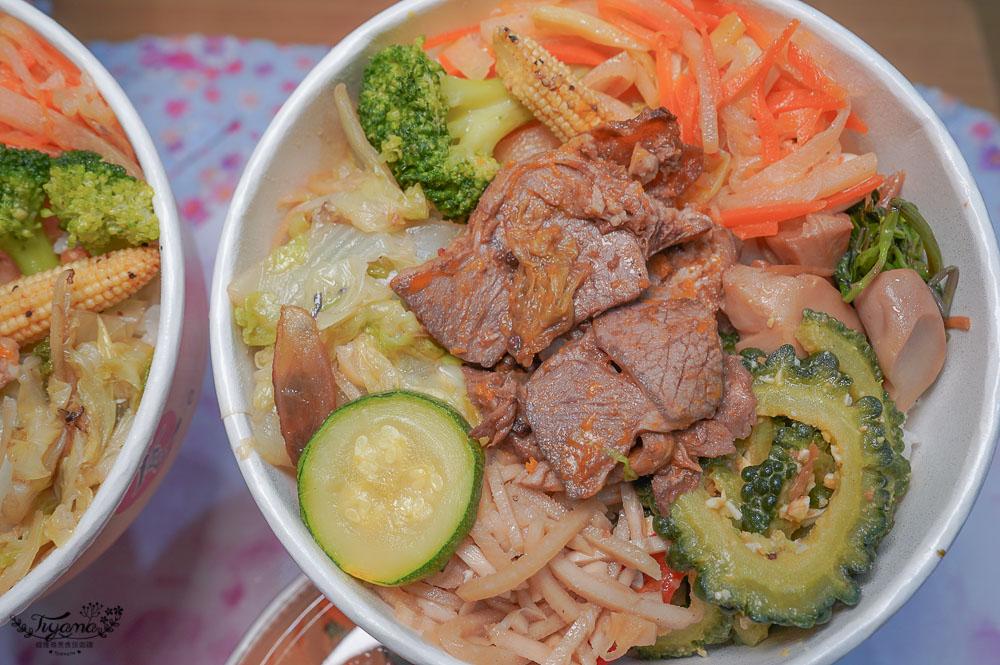 台南外帶便當「鉄輪百元便當」有肉有菜,醬燒羊便當、炭燒豬便當、紅燒牛便當只要100元 @緹雅瑪 美食旅遊趣