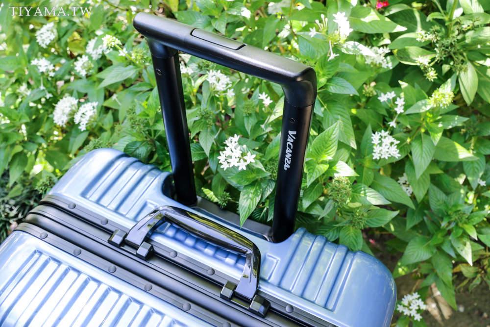 VACANZA鋁框行李箱 羽量級PC材質,比一般輕1.5~2kg讓你出國帶回更多戰利品!出國旅遊好幫手 @緹雅瑪 美食旅遊趣