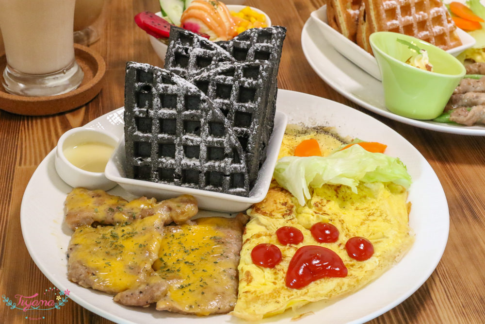 台南早午餐推薦 金色小屋比利時創意鬆餅 安平店:健康美味輕食「養生竹炭鬆餅」 安平店限定 @緹雅瑪 美食旅遊趣