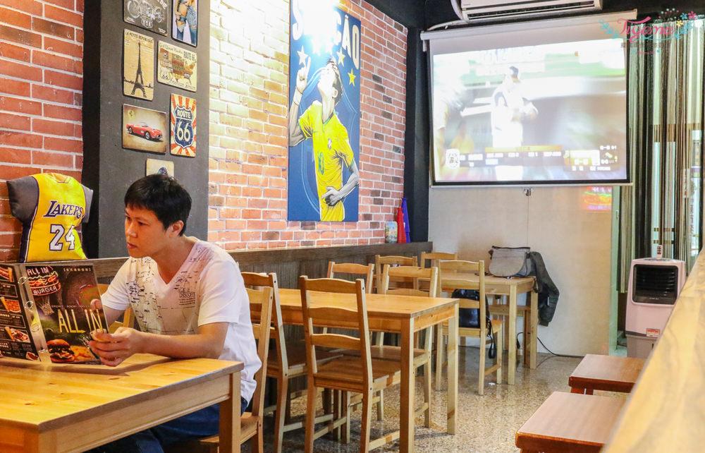 ALL IN美式運動餐廳|台南新市:南科聚餐、看球賽,美式漢堡雞翅、墨西哥料理、義大利麵|啤酒.水果酒.調酒 @緹雅瑪 美食旅遊趣