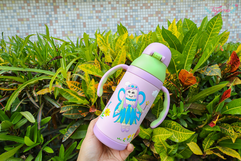 【EAT4FUN】夢幻精靈-雙面3D彈跳吸管保溫水杯|幼兒吸管水杯|兒童保溫水壺|雙層食品級304不鏽鋼 @緹雅瑪 美食旅遊趣