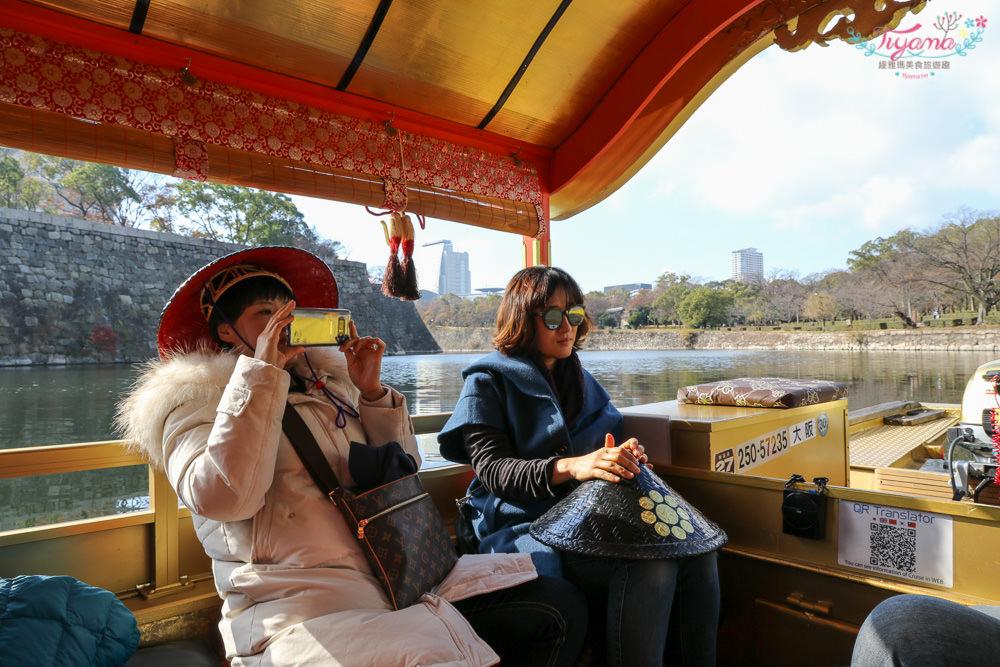 大阪周遊卡景點|大阪城御座船:豐臣秀吉的金箔「鳳凰丸」重現,大阪城內的護城河遊船導覽 @緹雅瑪 美食旅遊趣
