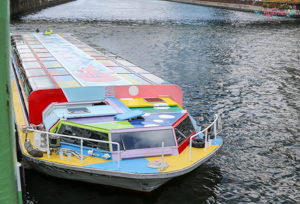 大阪周遊卡景點|大阪水上巴士 Aqua-Liner:60分鐘帶你遊覽大阪街道景的超酷水上巴士 @緹雅瑪 美食旅遊趣
