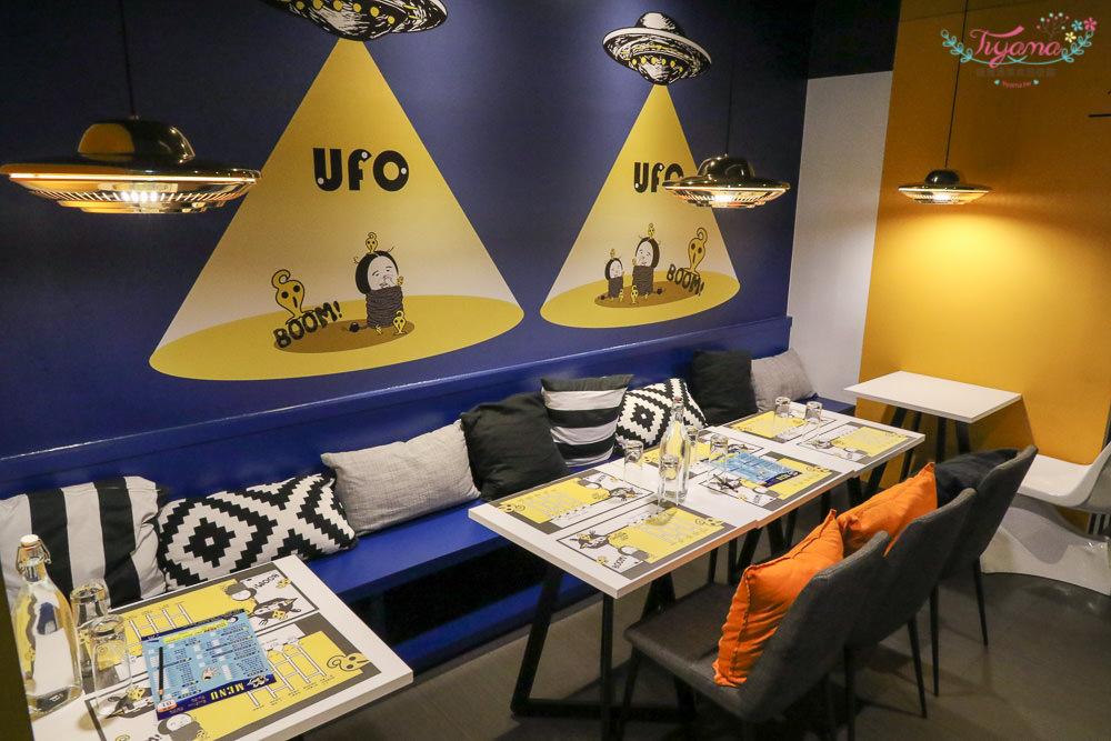 台南主題餐廳|UFO cafe&food:外星人來襲!!超強莊園手沖咖啡|午餐.下午茶|義大利麵.燉飯|精品手沖莊園咖啡 @緹雅瑪 美食旅遊趣