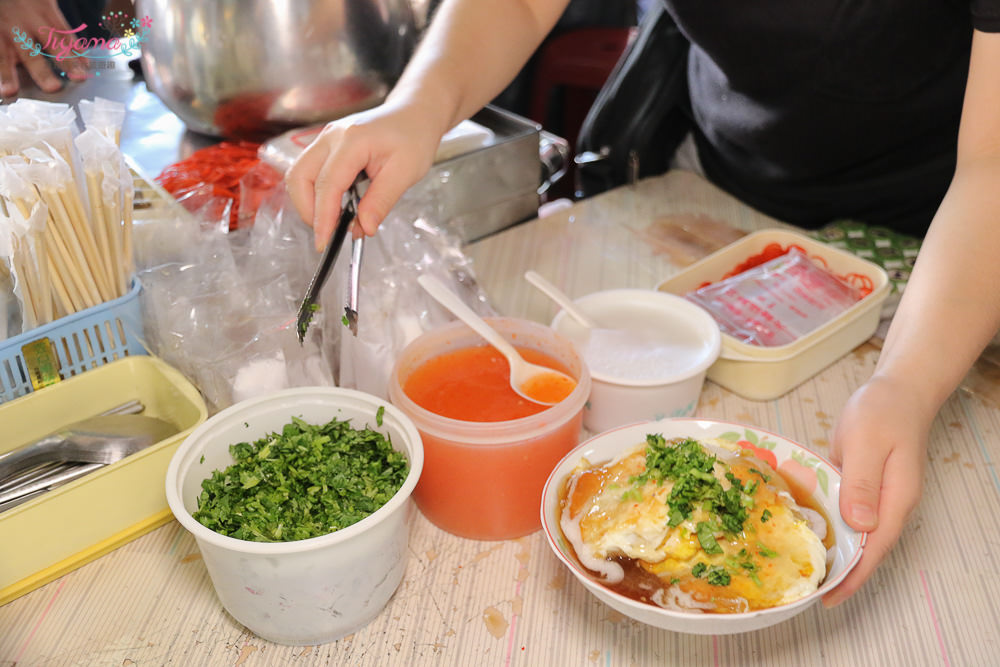 台南肉粿 關廟粿仔 崇義黃昏市場:厚實版肉粿,一份28元.加蛋35元,香Q夠味美味銅板小吃! @緹雅瑪 美食旅遊趣