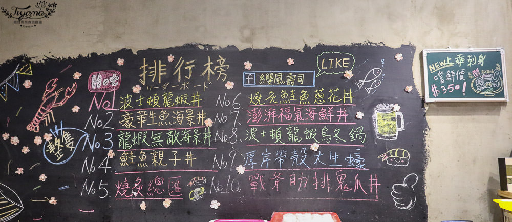 台南壽司|纓風壽司公園店:浮誇波士頓龍蝦武士丼,每日限量~超佛心價!! @緹雅瑪 美食旅遊趣