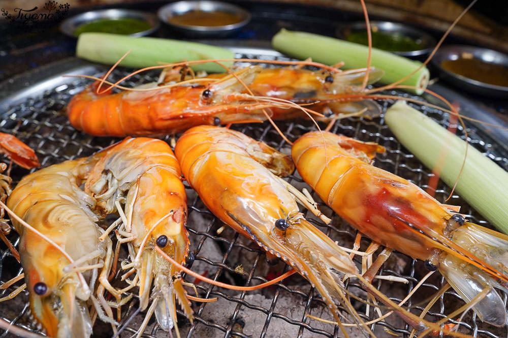 台南水道蝦燒肉吃到飽~Scream 尖叫精緻炭火燒肉,現夾現烤泰國蝦、海鮮燒肉、鐵板燒,任你爽爽吃 @緹雅瑪 美食旅遊趣