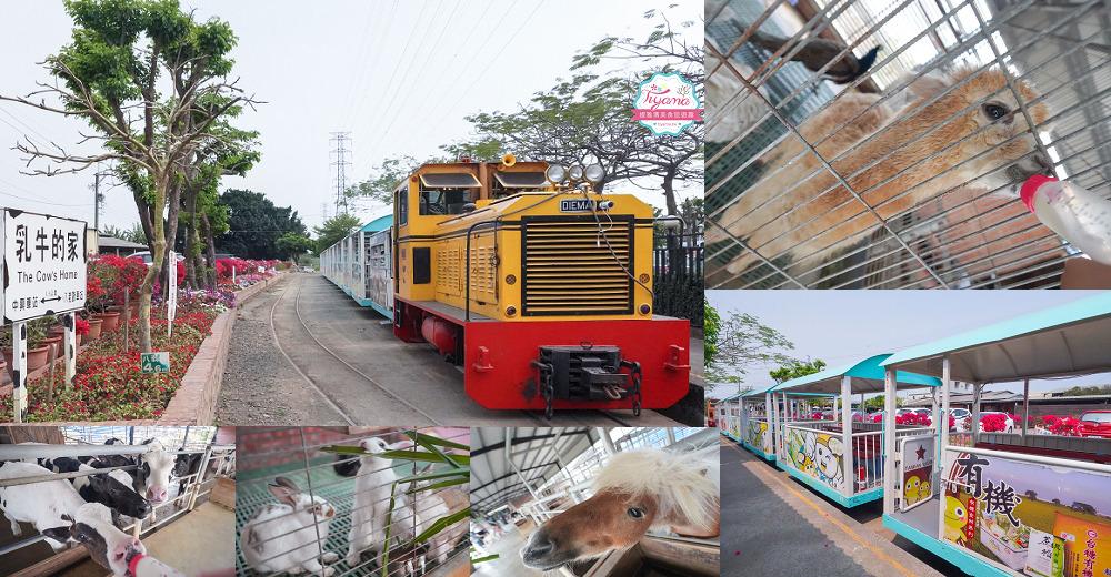台南柳營景點|八老爺車站 乳牛的家,五分火車、鐵路餐廳、餵動物 @緹雅瑪 美食旅遊趣