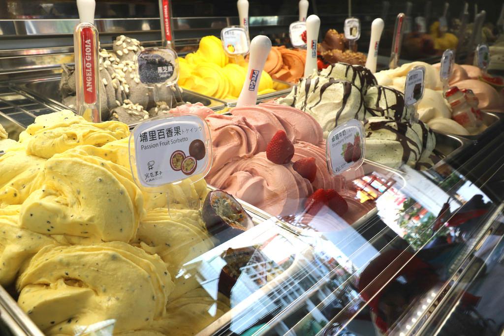 【台南.玉井區】光芒果子.台灣 小旅行。麵包超人古董機械搖搖馬:低熱量.低脂肪「嚴選在地食材新鮮水果」義式冰淇淋 @緹雅瑪 美食旅遊趣