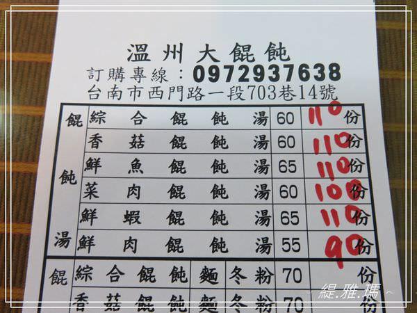 【台南.中西區】溫州大餛飩~台南巷弄美食。平價料好實在 @緹雅瑪 美食旅遊趣